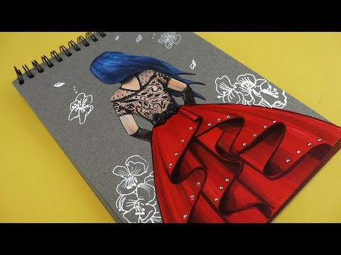DIY PRINCES DRESS  QUIET BOOK - DECORATE NOTEBOOK HANDMADE PAPER CRAFTS