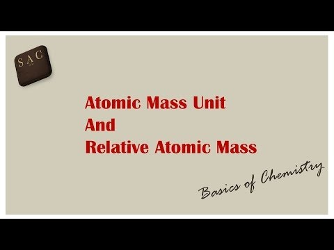 Atomic Mass Unit | Relative Atomic Mass | Relation between the two | How to Calculate RAM