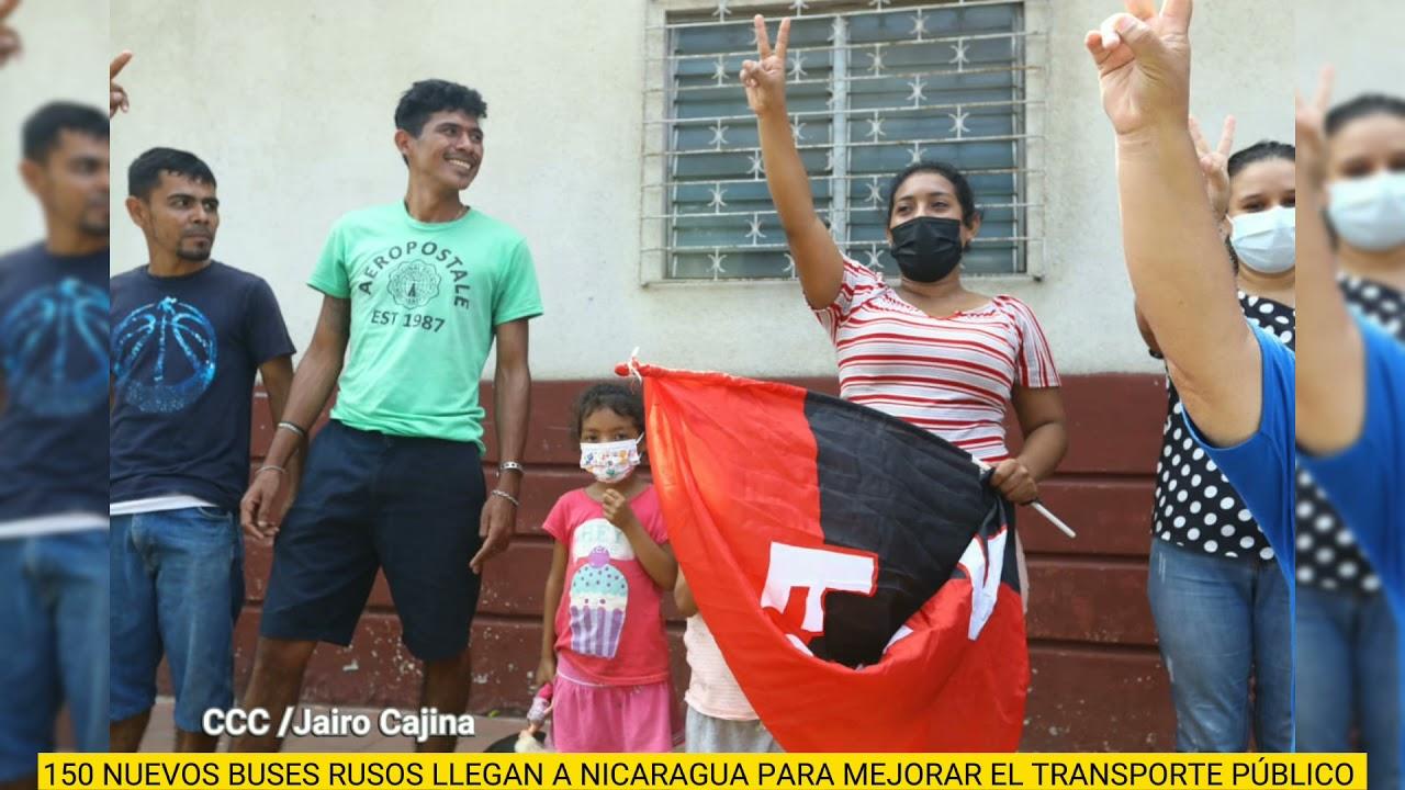 Nicaragua: llegan 150 buses rusos para reforzar el transporte público nacional
