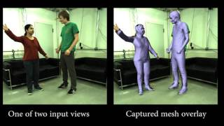 On-set Performance Capture of Multiple Actors With A Stereo Camera (SIGGRAPH Asia 2013)