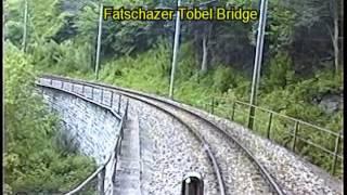 Rhaetian Railway 20 years ago cab view Arosa to Chur 12 June 1994