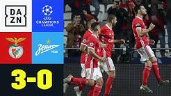Benfica rettet sich in die Europa League: Benfica - Zenit 3:0 | UEFA Champions League | DAZN