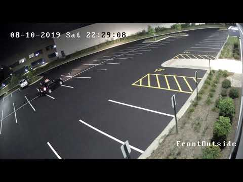 Scotty Davis - Delivery Driver Hits Sign In Completely Empty Parking Lot Then Peace's Out