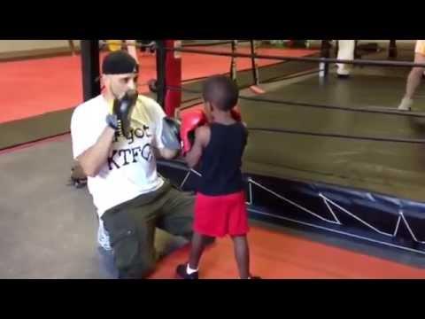Coach Rick's Mittology – Kids Basic Boxing Padwork & Footwork Session Pivots & movement