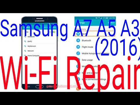 How To Fix Wifi Samsung Galaxy 2017 100%Done