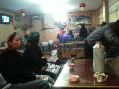 Tibet: In a Tibetan karaoke bar