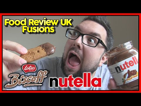 Dipping Lotus Biscoff into Nutella | Food Review UK Fusions