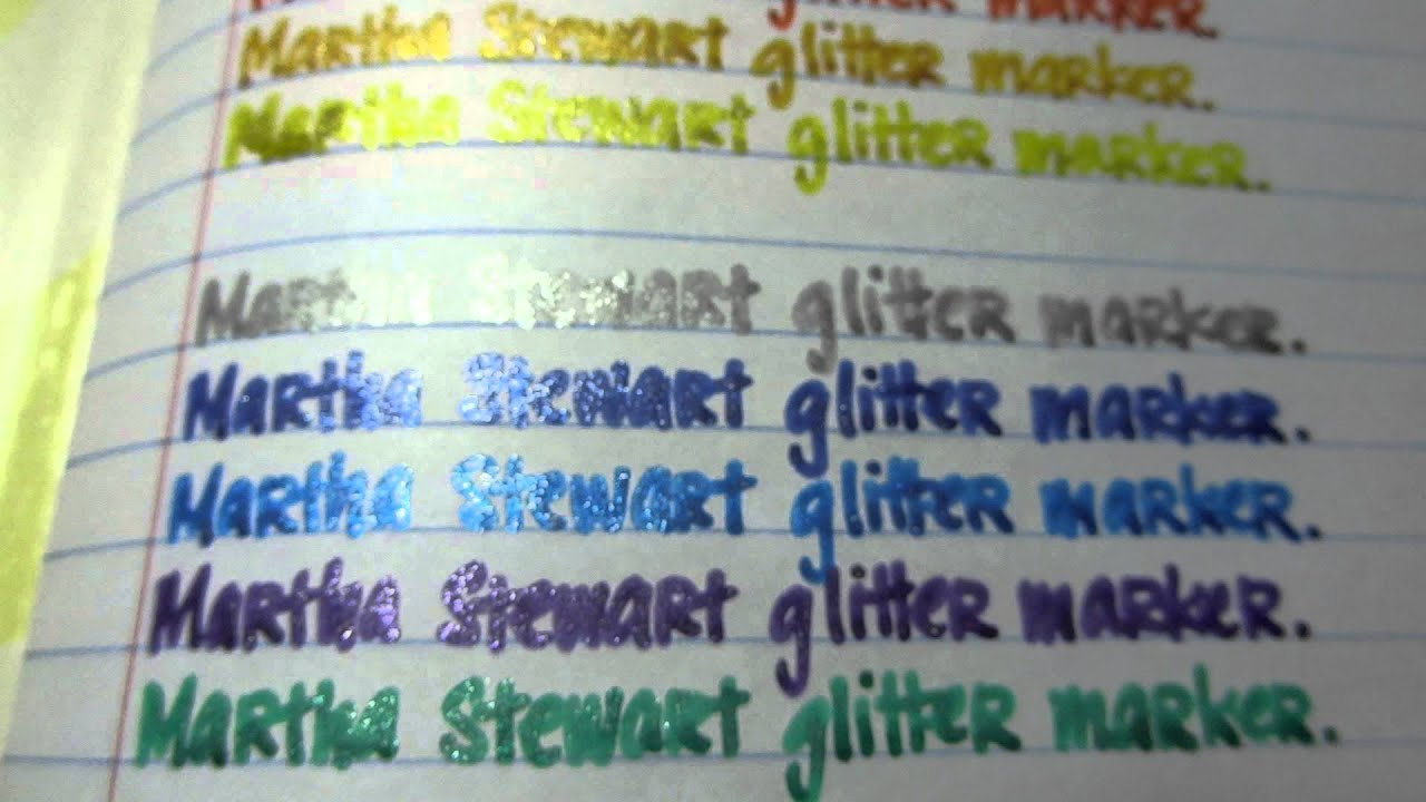 Martha Stewart Glitter Markers Atyou Spica Markers And