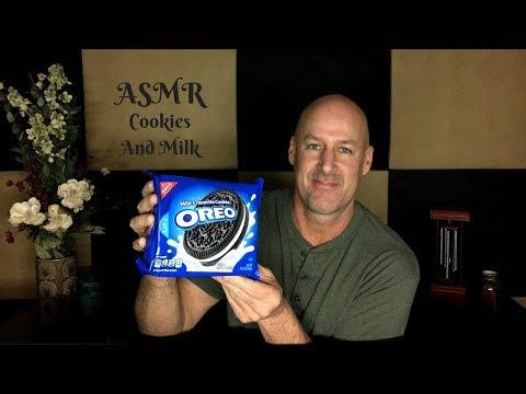 ASMR Eating Cookies And Milk~Soft Spoken