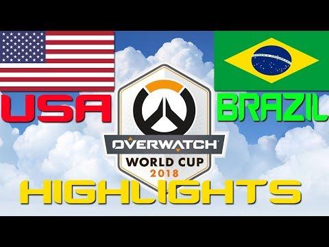 USA vs Brazil | USA Overwatch World Cup Qualifier 2018 Highlights thumbnail