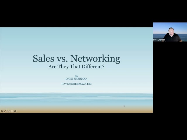 Networking vs. Sales - Is there a difference?