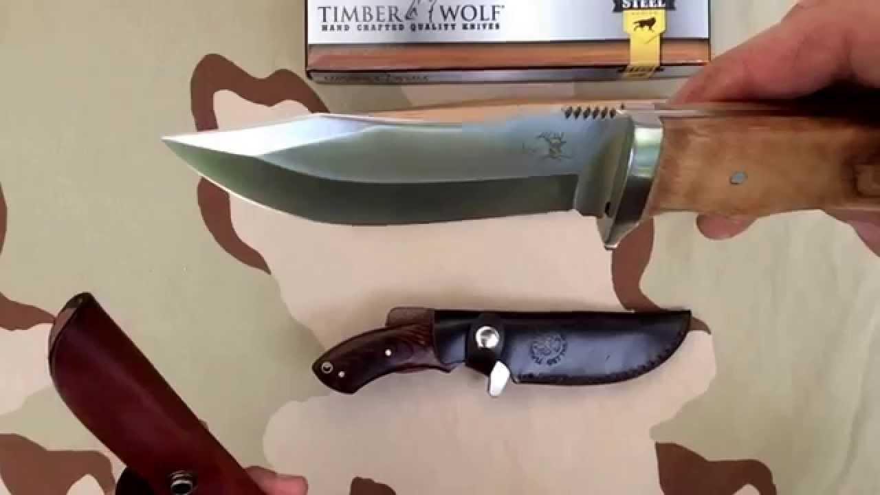 Elk Ridge Knives ER-291 / Timber Wolf Blazing Bowie