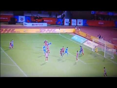 isl 2017    sunil chethri scores for bfc    sunil chethri header goal