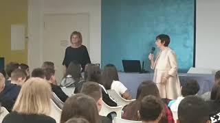 Il saluto della dirigente scolastica Maria Chimisso all'Alberghiero