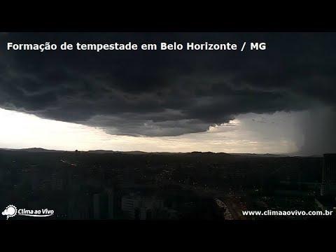 Imperdível! Câmeras registram tempestade que provocou caos em Belo Horizonte / MG - 16/03/2018