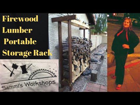 Firewood Lumber Portable Storage Rack  DIY