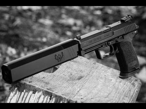 USP 45 Tactical +SilencerCo 45 Osprey - Shot Wet
