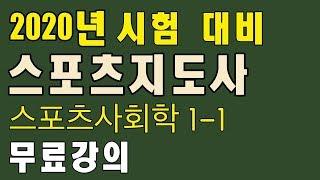 생활스포츠지도사2급 2020년 스포츠사회학 1-1 성피티