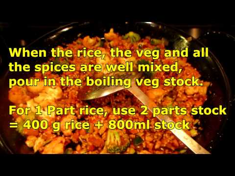 How to make a Vegetable Paella