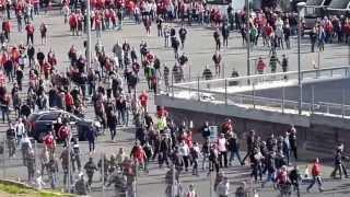 UEFA Final @ Wembley 25 May 2013 - German fans fighting
