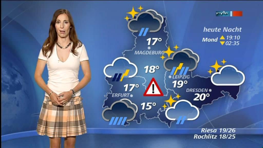 Michaela Koschak MDR Wetter 30-06-2012 - YouTube