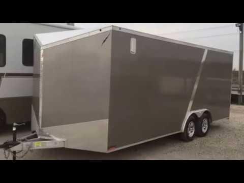 85 X 20 lightning all aluminum enclosed car trailer  YouTube