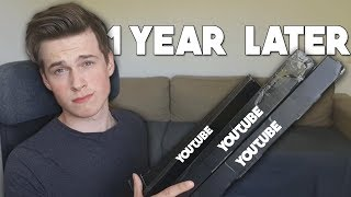 WHY I WAITED 1 YEAR TO OPEN GIFTS FROM YOUTUBE