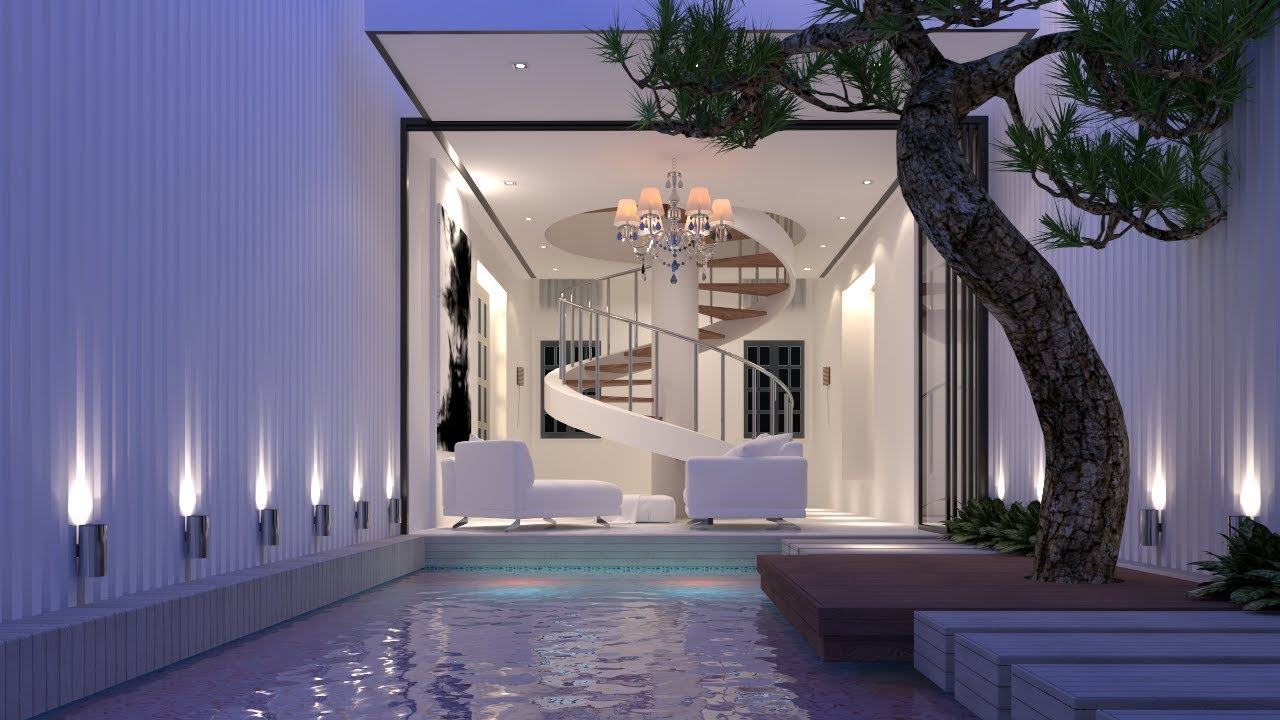 Vray rendering swimming pool render using vray for for Pool design sketchup