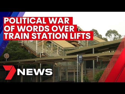 State government accused of pork-barreling over Sydney train station lifts | 7NEWS