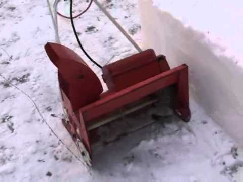 "Vintage 1958 Sunbeam 16"" Electric Snow Thrower"
