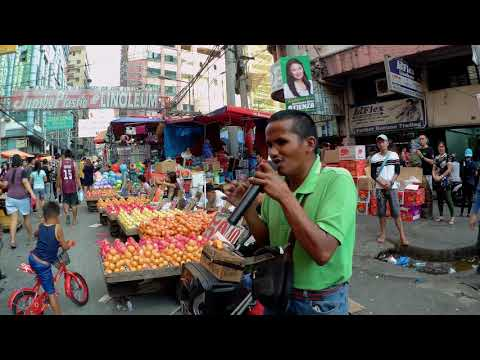 A Blind Musician of tondo manila w/ Amazing Voice on the street