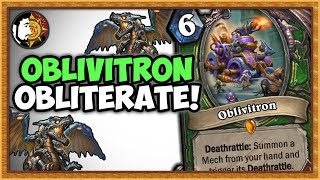 Hearthstone: Oblivitron OBLITERATE Mech Hunter - Rise Of Shadows