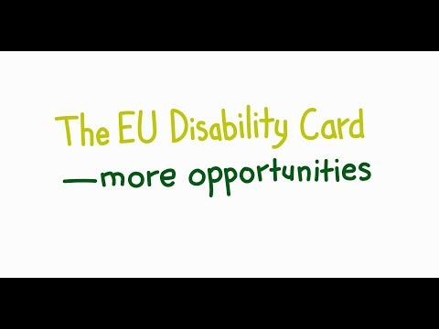 The EU Disability Card - more opportunities