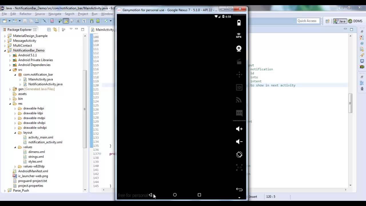 Android Notification Bar - Androhub
