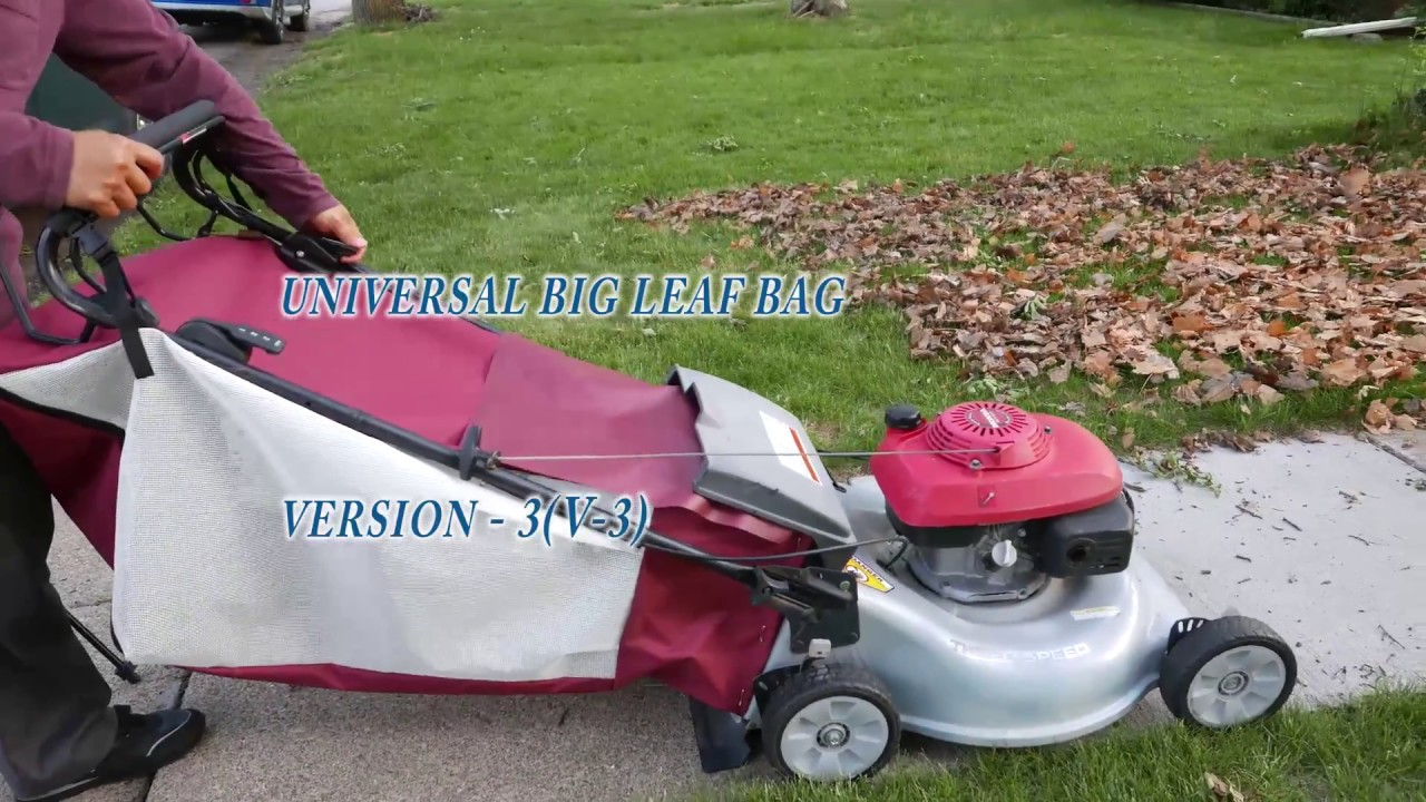 The Universal Leaf Bag Attachment Version 3 For Any Lawn Mower