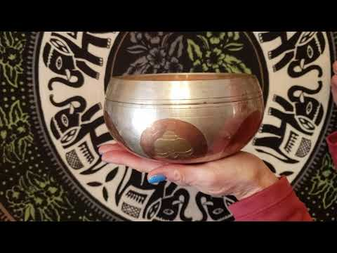 New!  Tibetan Bowls - Hand Hammered Etched Bowl
