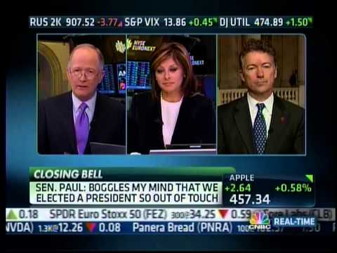 Sen. Rand Paul on CNBC's Closing Bell w Maria Bartiromo discussing 'Audit the Fed'  2713