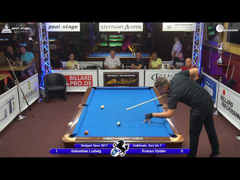 Stuttgart Open 2017, No. 26, Sebastian Ludwig vs. Roman Hybler, 10-Ball, Pool-Billard