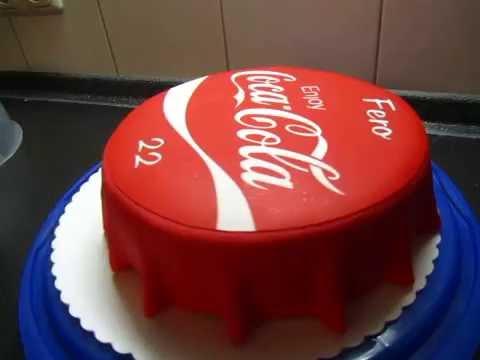 Coca Cola Geburtstags Torte Fondant Torte Youtube