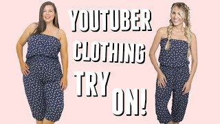 Trying Outfits from Youtuber Clothing Lines Part 2!