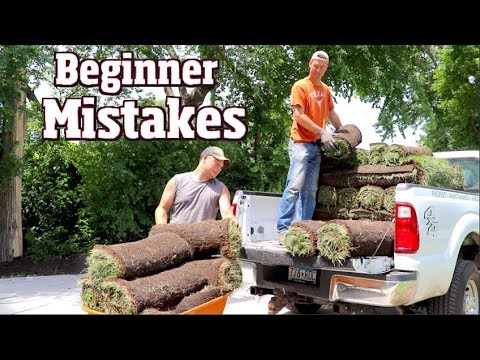 How Not To Sod- Beginner Mistakes Out On The Job.  Day At Work Building A Yard