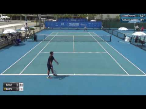 ITF Tennis 20.06.2017 David Nguyen (USA) - Natthasith Kunsuwan (Thailand) 2:0 (6-1 6-3)