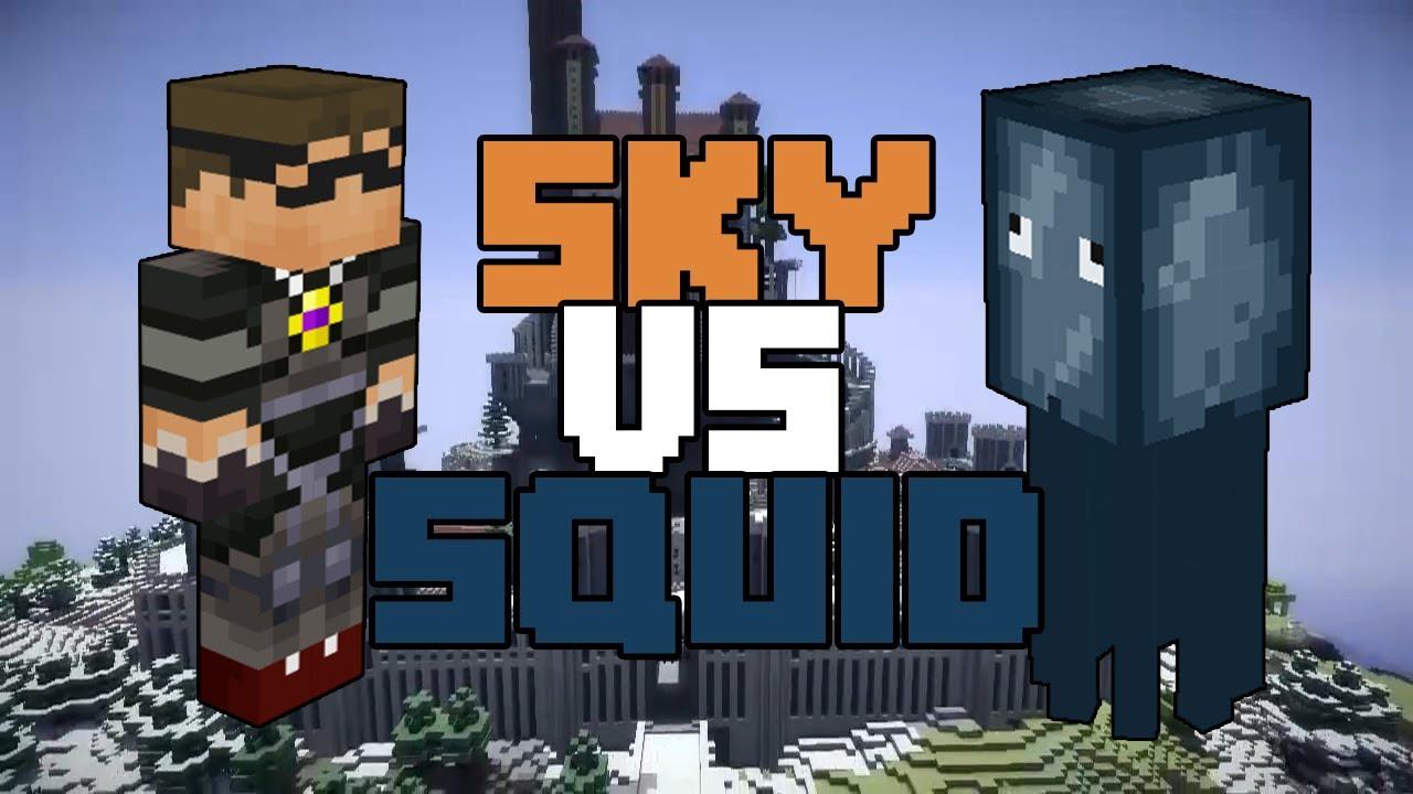minecraft skydoesminecraft vs squid part 2 finale