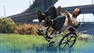 GTA 5 Mods: Wheelchair Stunts & More! - (GTA 5 Funny Moments)