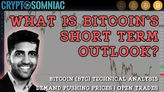 Bitcoin Short term Outlook | Technical Analysis | Demand pushing prices | Open Trades