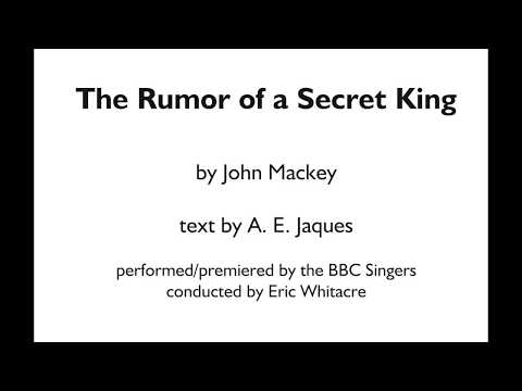 The Rumor of a Secret King - by John Mackey