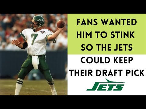 [OC] [Highlight] In 1993, when the Jets traded for QB Boomer Esiason, the Jets had to give up a conditional 2nd rounder if he had a passer rating of 89. Entering the last week, he had an 87.1 rating, leading Jets fans to root for him to stink in the finale. This is the story behind the bizarre trade
