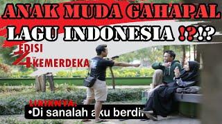 CHALLENGE FINISH THE LYRICS LAGU WAJIB NASIONAL INDONESIA | BONUS BIDADARI PADA NYANYI HARI MERDEKA