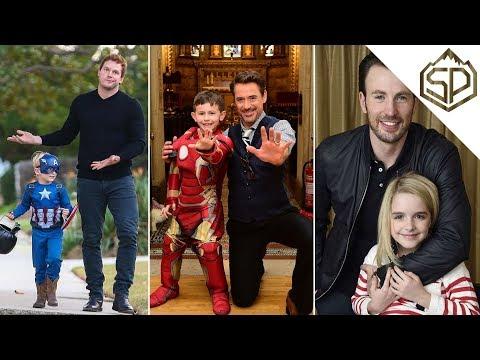 Актёры Марвел и дети | Забавные и очаровательные моменты