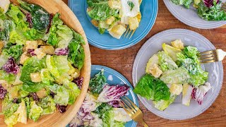 Caesar Salad with Homemade Dressing and Croutons By Salt Fat Acid Heat Author Samin Nosrat
